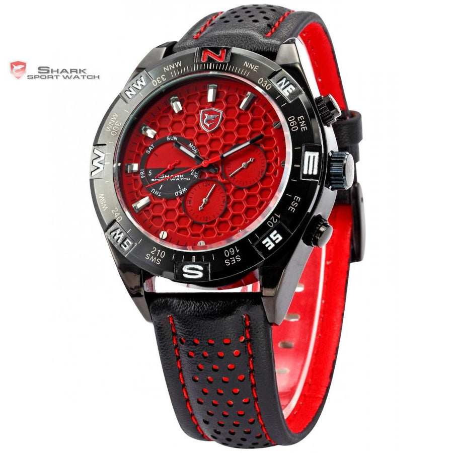 Shortfin Shark Sport Watch Red