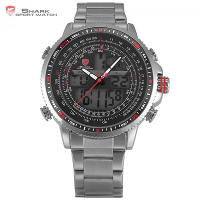 Winghead SHARK Sport Watch Nickel/Black/Red