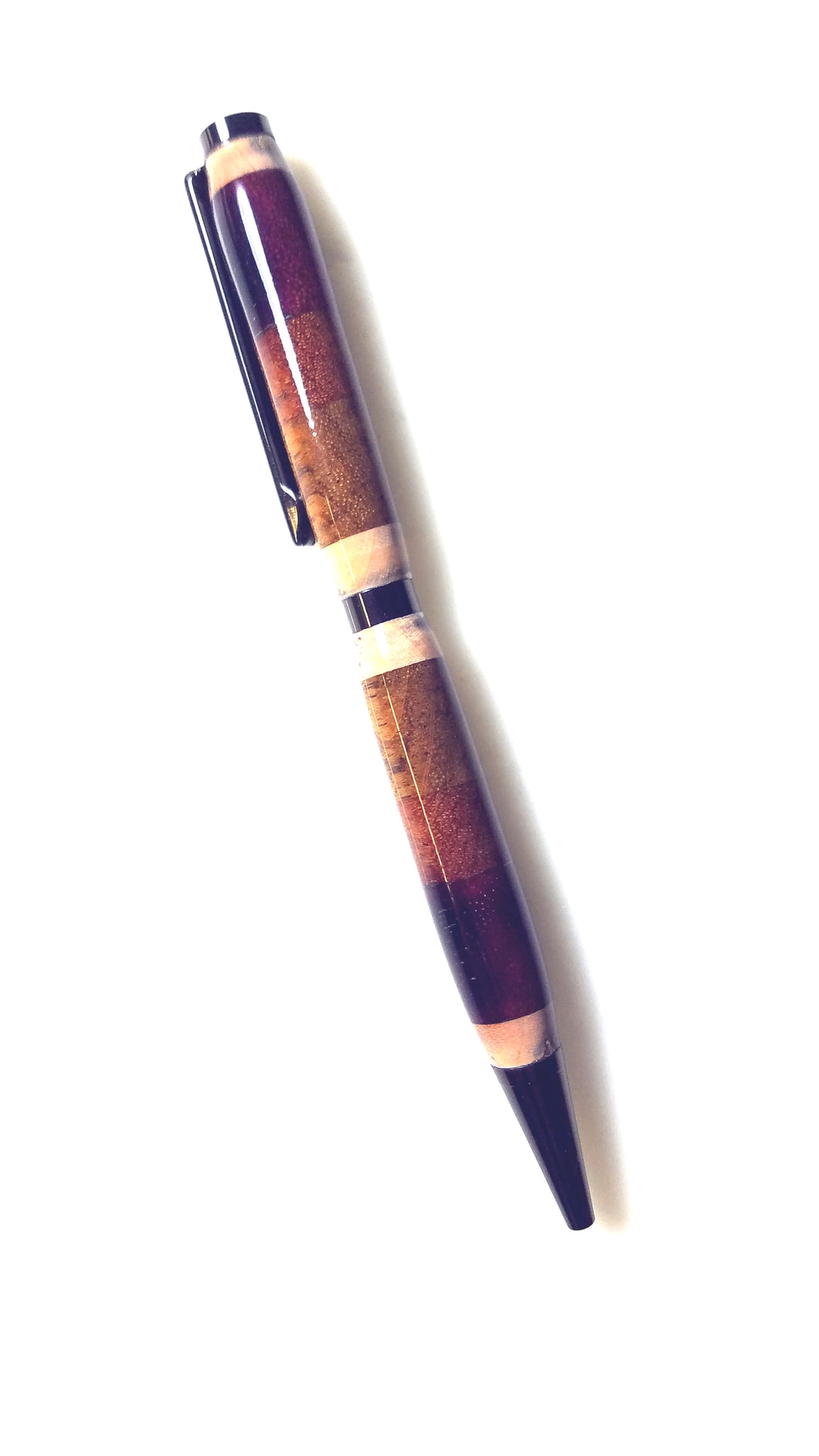 4 Different Exotic Woods Segmented Pen