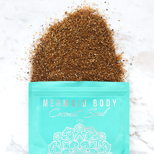 Mermaid Body Coconut Scrub Pack Open