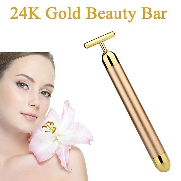 24K Gold Vibration Facial Massager-Facial Care-Prime4Choice.com-