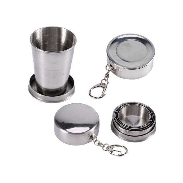 Collapsible Cup Stainless Steel Portable Folding Cup