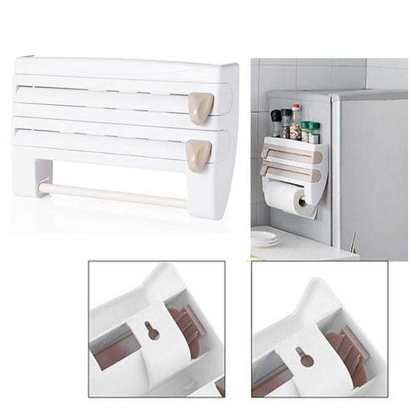 4-in-1 Wall mounted Kitchen Roll Dispenser-Home & Garden-Prime4Choice.com-