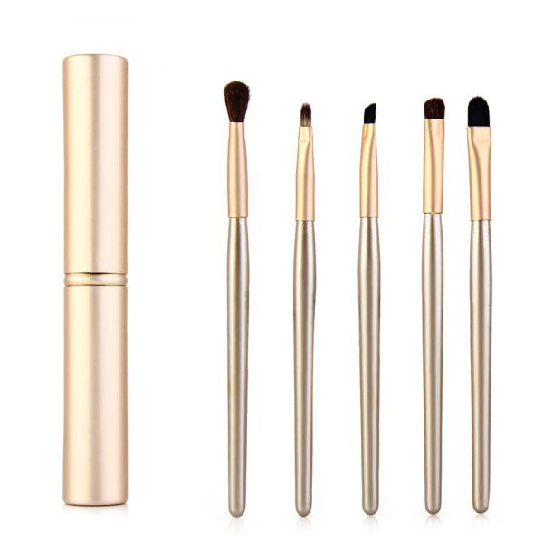 5 Pcs Eyeshadow Brush Set with Candy Color Case