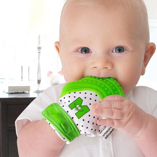 Baby Pacifier Cleaner Teether Gloves Safety Seat Set-Kids & Baby-Prime4Choice.com-Teether Gloves-Green-