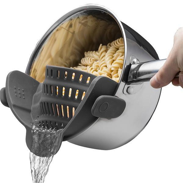 Clip-On Silicone Strainer-Kitchen & Dining-Prime4Choice.com-Black-