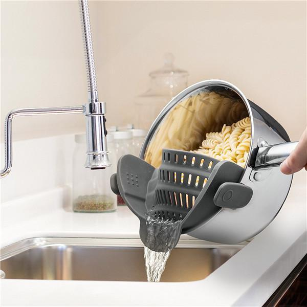Clip-On Silicone Strainer-Kitchen & Dining-Prime4Choice.com-