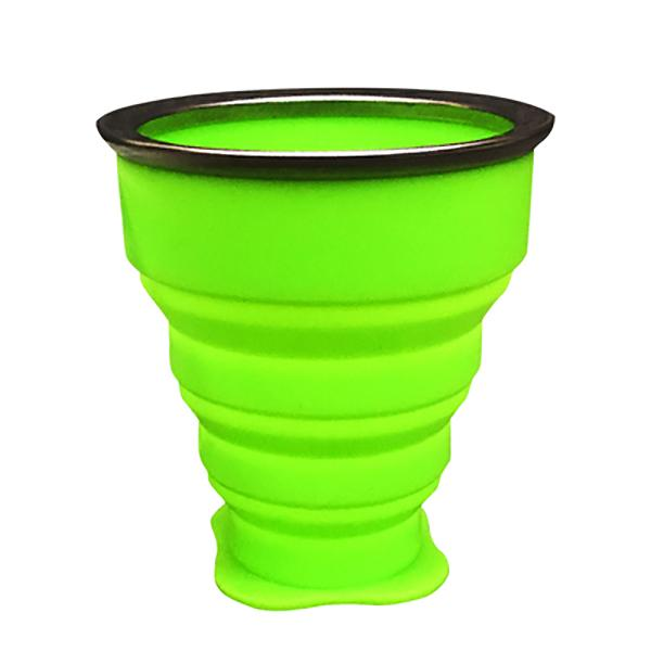 Collapsible Zip Cups-Cups-Prime4Choice.com-Green-