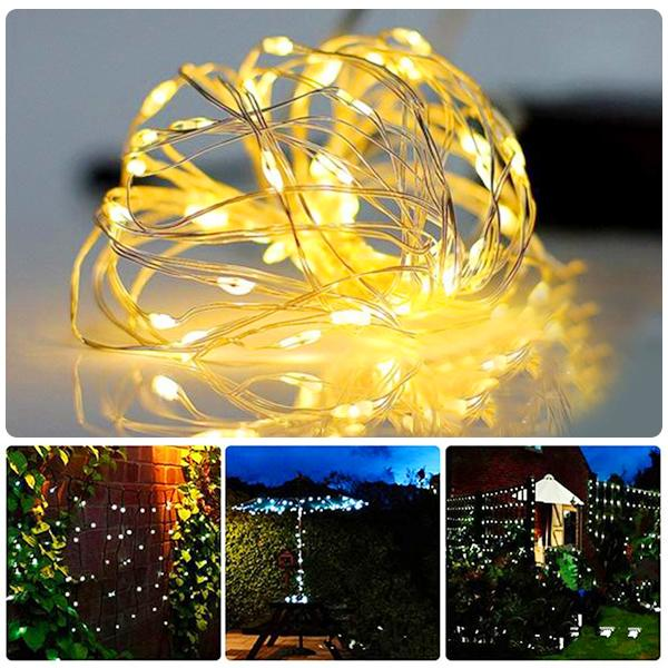 Dimmable Remote control LED String Lights, 33ft 100 LED-Lights Strip-Prime4Choice.com-