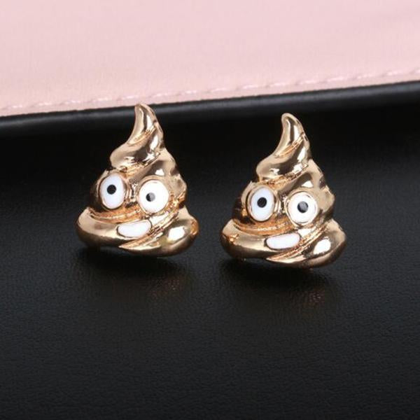 Feces Expression Earring-Ornaments-Prime4Choice.com-Gold-