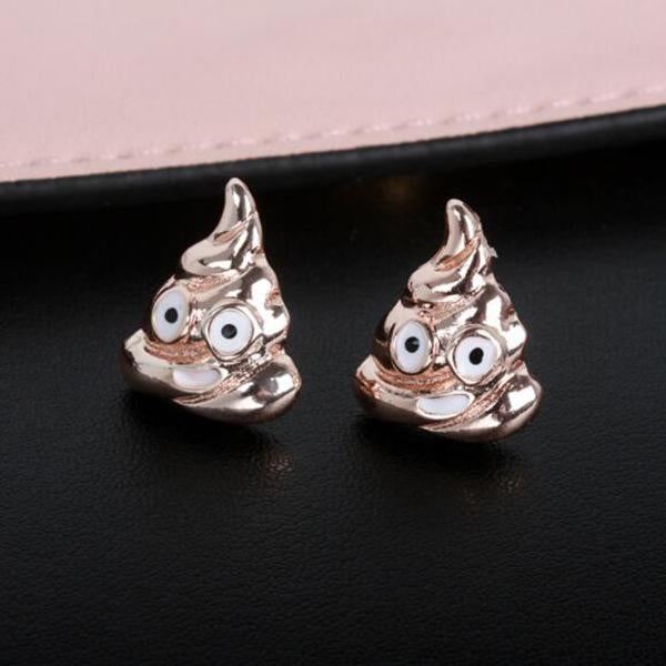 Feces Expression Earring-Ornaments-Prime4Choice.com-Rose Gold-