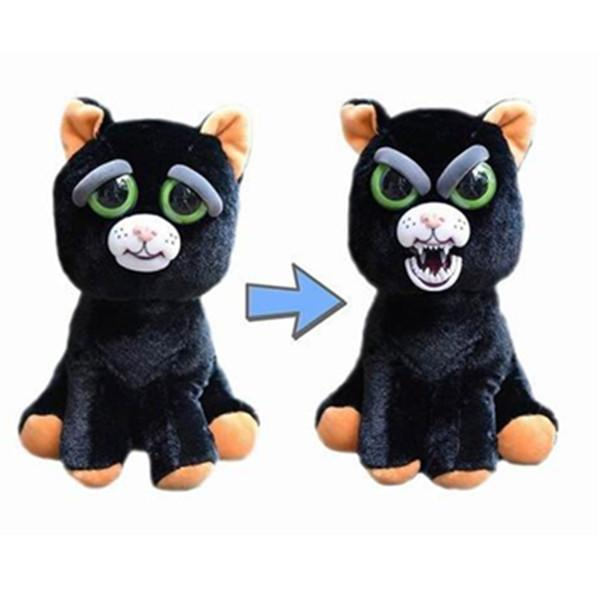 Feisty Funny Expression Pets Plush Toy-Toys-Prime4Choice.com-Black Cat-