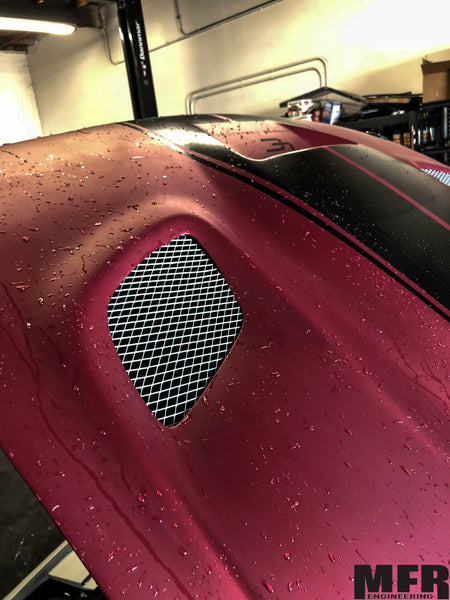 Dodge Challenger Hood Rain Guard (Hellcat Hood) - MFR Engineering