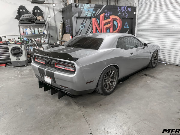 Dodge Challenger Chassis Mounted Rear Diffuser