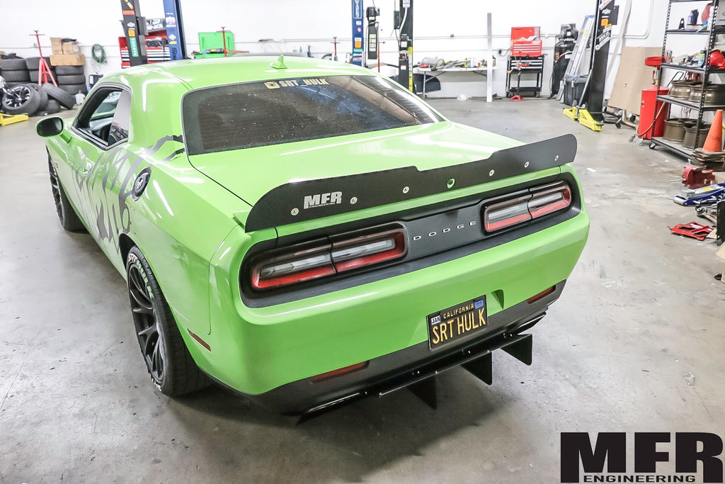Dodge Challenger Chassis Mounted Rear Diffuser - MFR Engineering