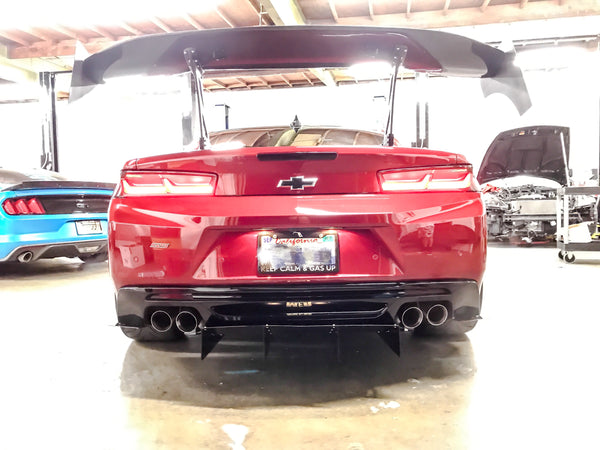 Chevrolet Camaro 6th Gen Chassis Mounted Rear Diffuser - MFR Engineering