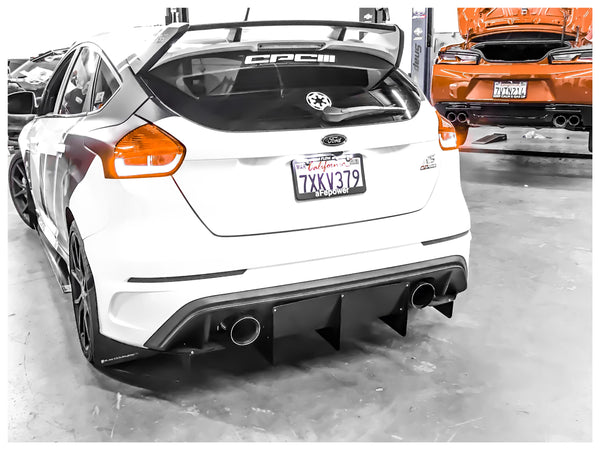Ford Focus RS Chassis Mounted Diffuser - MFR Engineering