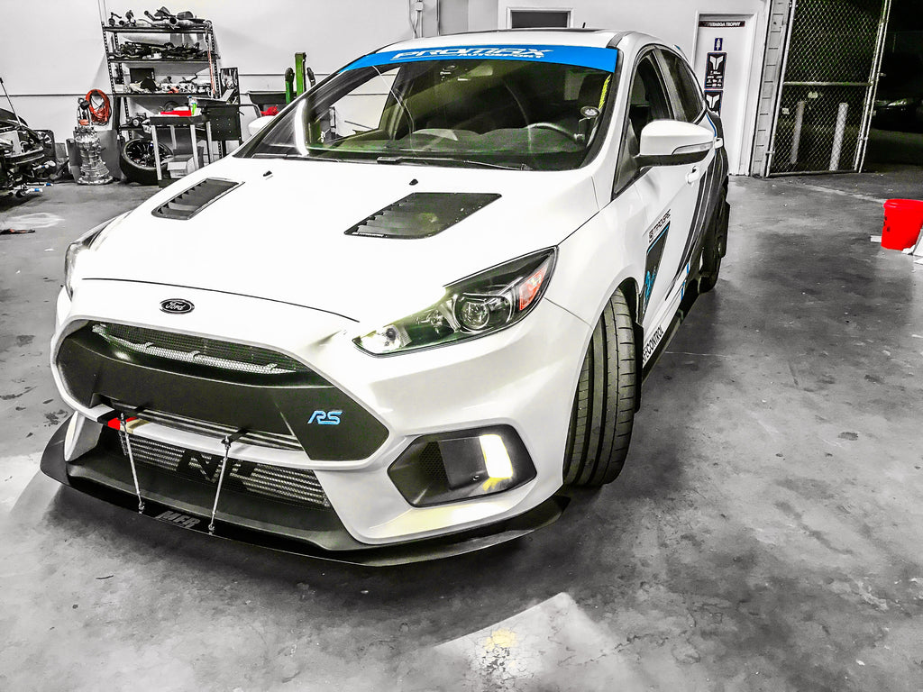 Ford Focus RS Chassis Mounted Front Splitter - MFR Engineering