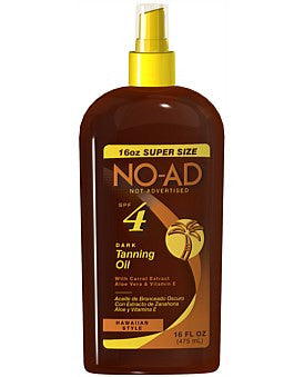 NO AD Hawaiian Tan Oil SPF4