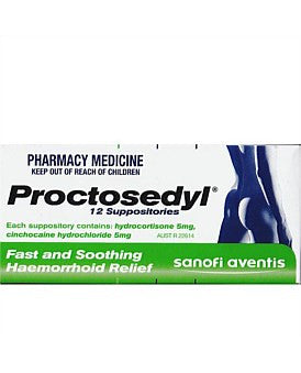 Proctosedyl Suppositories (NZ Only)