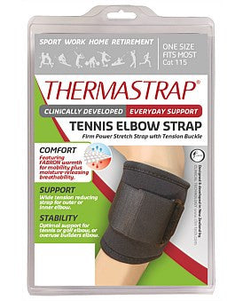 Thermastrap Tennis Elbow And Strap Black