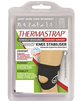 Thermastrap Compact Knee Stabliser Black One Size