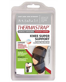 Thermastrap Knee Super Support Black Multi