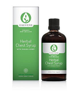 Kiwiherb Organic Herbal Chest Syrup with Manuka Honey