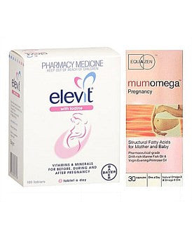 Limited Value pack: 1 Elevit Iodine 100s and 3 Equazen Mumomega Pregnancy 30s