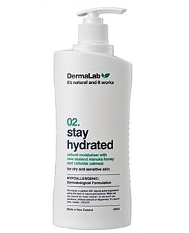 DermaLab 02 Stay Hydrated Lotion Natural Moisturiser