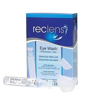 Reclens Eye Wash with Disposable Eye Cups