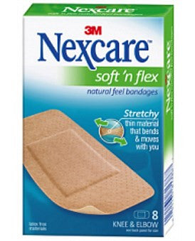 Nexcare Bandages Soft N Flex Knee And Elbow Large