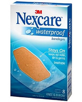 Nexcare Bandages Waterproof Knees And Elbows Large