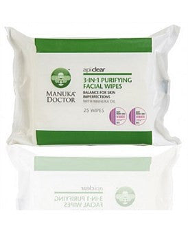 Manuka Doctor ApiClear 3 In 1 Purifying Facial Wipes