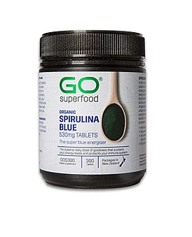 GO Healthy Go Superfood Organic Spirulina Blue 530mg