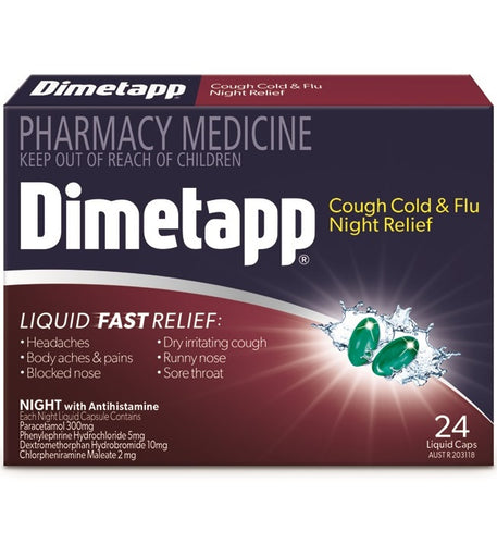 Dimetapp Cough Cold & Flu Night Relief