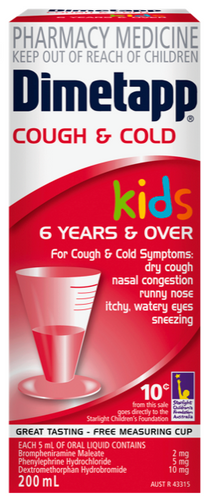Dimetapp Cough & Cold Liquid for Kids