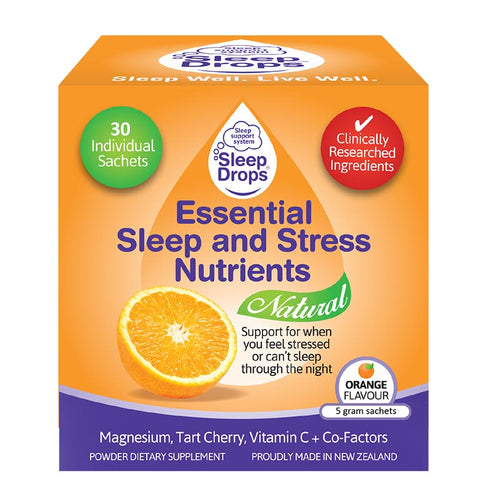 SleepDrops Essential Sleep and Stress Nutrients with Tart Cherry