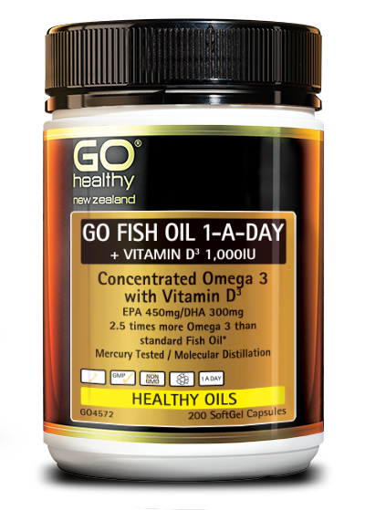 GO Healthy Go Fish Oil 1-A-Day + Vitamin D3 1,000IU