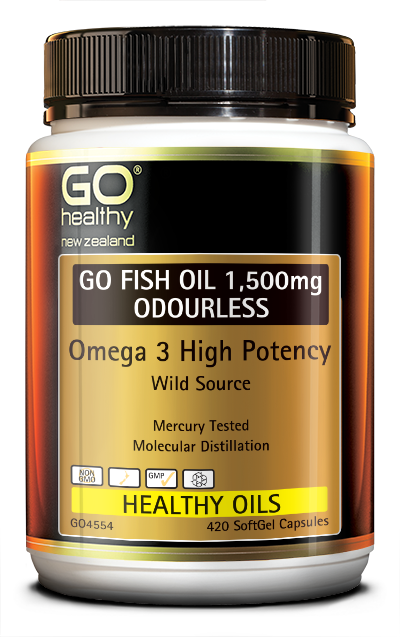 GO Healthy Go Fish Oil 1,500mg Odourless