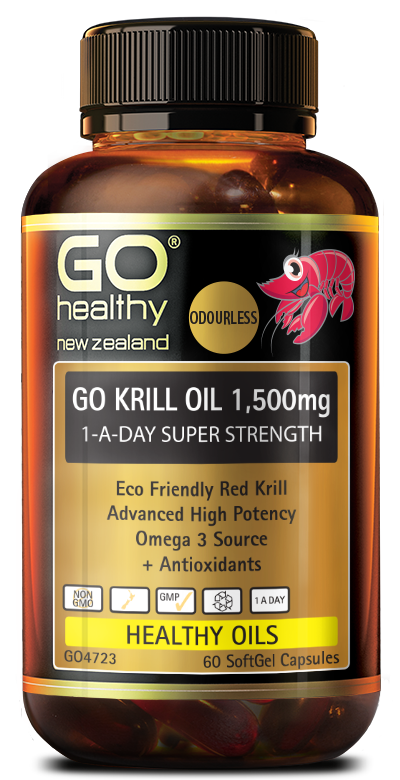 GO Healthy Go Krill Oil 1,500mg 1-A-Day Super Strength