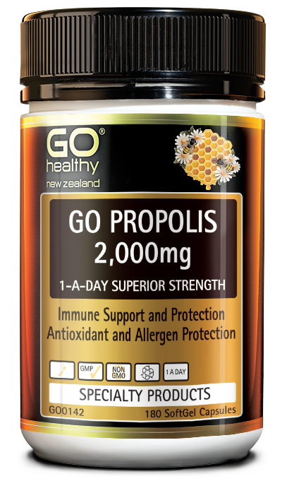 GO Healthy Go Propolis 2,000mg 1-A-Day Superior Strength