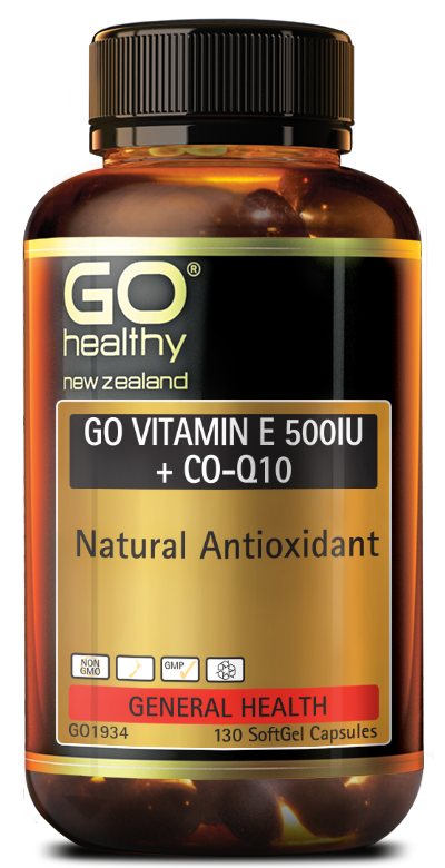 GO Healthy Go Vitamin E 500IU + CO-Q10