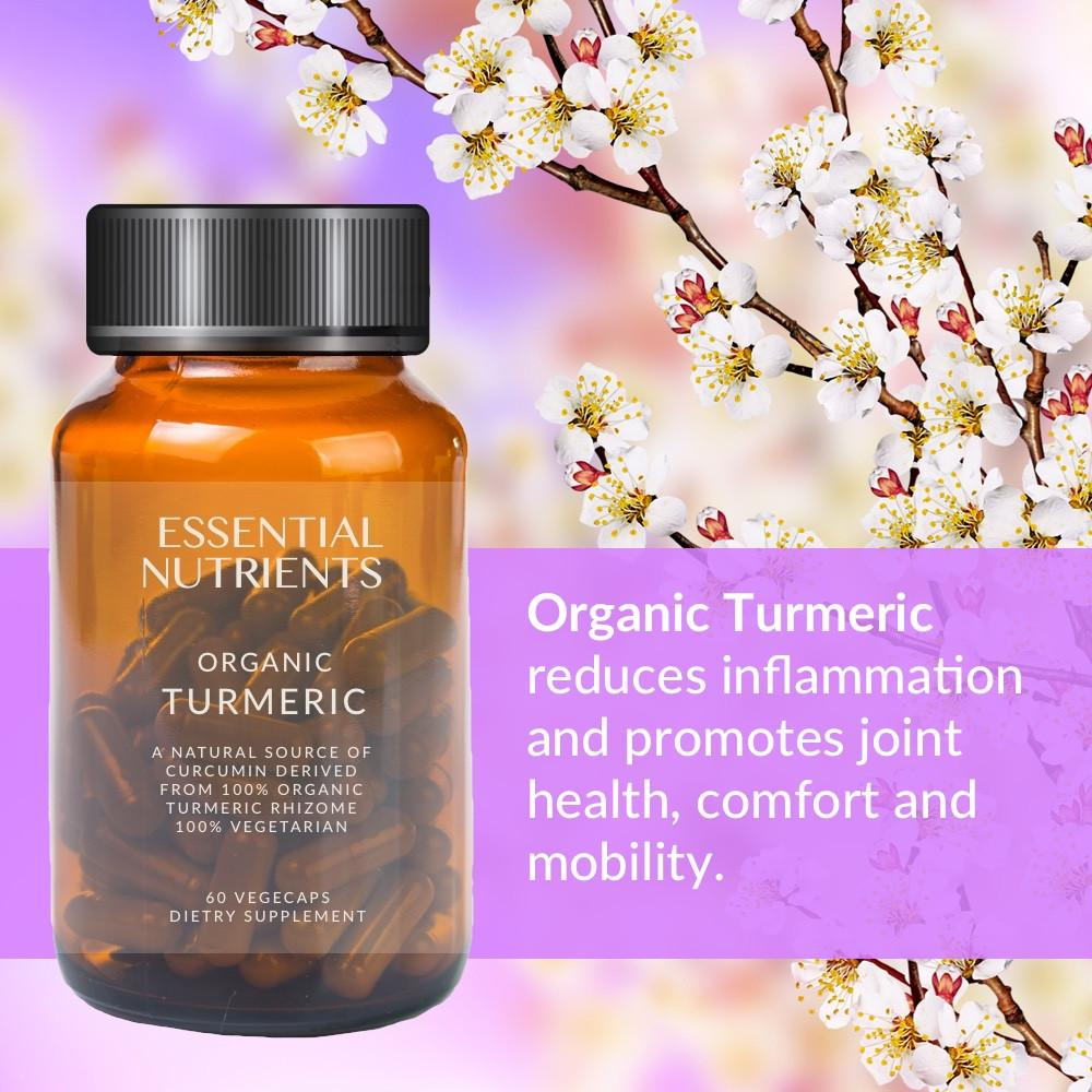 Essential Nutrients Natural Turmeric 500mg