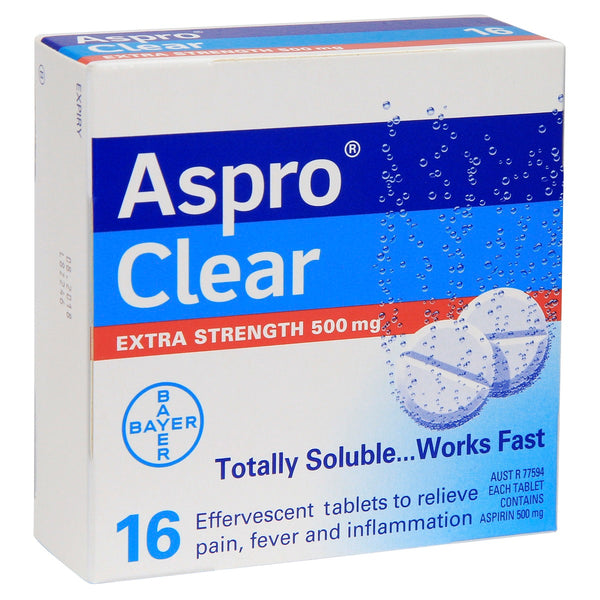 Aspro Clear Extra Strength 500mg Pain Relief