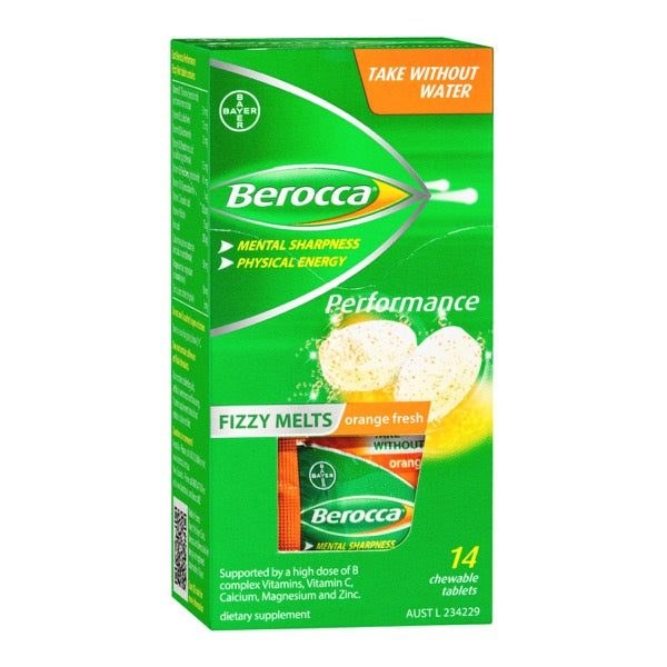 Berocca Performance Fizzy Melts Orange Fresh