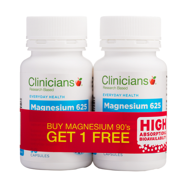 Clinicians Magnesium 625 - Buy One Get One Free