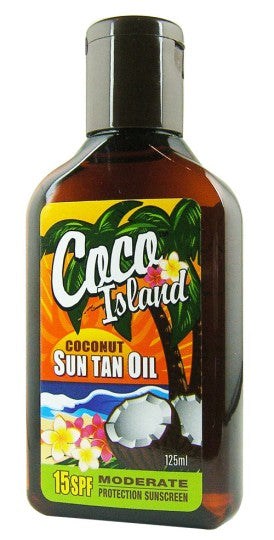 Coco Island Coconut Sun Tan Oil SPF15