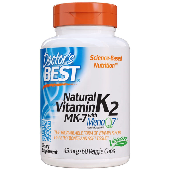 Doctor's Best Natural Vitamin K2 MK-7 with MenaQ7 45mcg