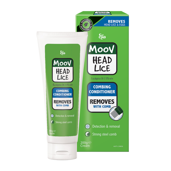 Ego MOOV Head Lice Combing Conditioner with Removal Comb